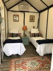 Two twin beds inside of fastpak